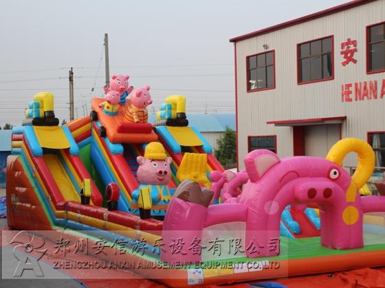 河南小猪飞车充气城堡滑梯