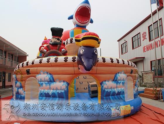 安信游乐夺宝章鱼充气城堡