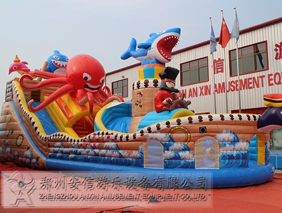 大型室外夺宝章鱼充气城堡