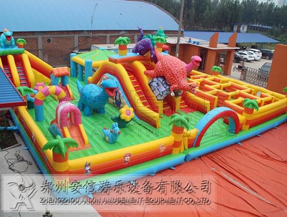 儿童恐龙乐园充气城堡
